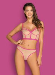 Nudelia 2-teiliges BH-Set - Hautfarben/Pink