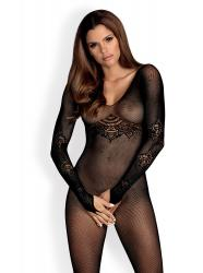 Net Bodystocking With Long Sleeves
