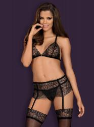 Firella 3-piece Garter Set - Black