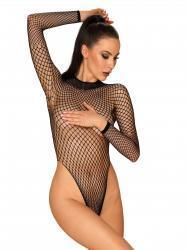 Visnet Body Met Lange Mouwen - Zwart