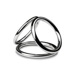 Sinner - Triad Chamber Metalen Cock- En Balring - Medium