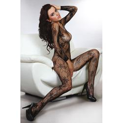 Helia Catsuit Met Open Kruis - Zwart