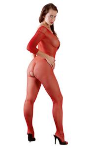 Pikante rode visnet catsuit