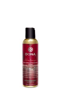 Dona - Kissable Massage Olie - Strawberry