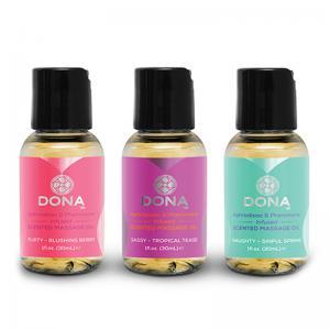 3 geurende massage oliën