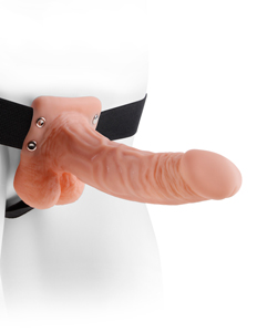 "7"" Holle Strap-On Met Ballen"