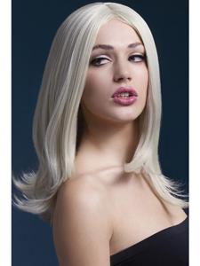 Steile blonde pruik
