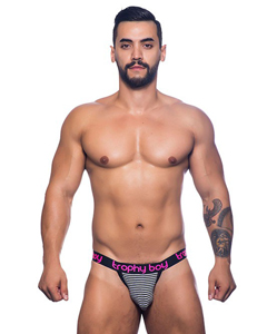 Trophy Boy Jockstrap - Zwart/Wit