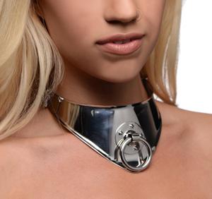 Stalen Halsband Met Hangslot