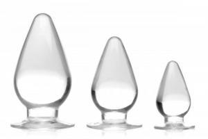 Triple Cones Anaalplug Set van 3 - Transparant