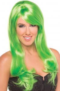 Burlesque Pruik - Groen