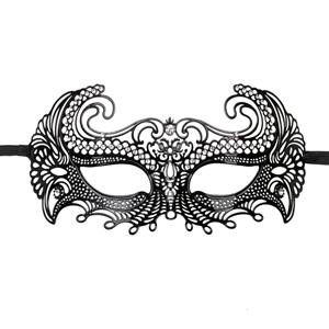 Zwart Venetiaans masker