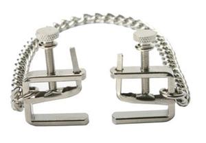 Verstelbare C-Clamps Met Ketting - Zilver