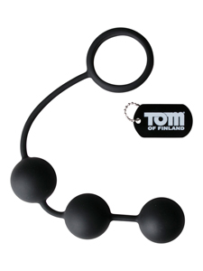 Tom of Finland Cockring Met Zware Anaalbeads