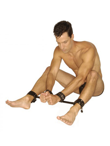 Strict Leather Locking Wrist and Ankle Spreader Bar