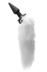 Foxxxy Fanny Vibrerende Witte Staart Anaalplug