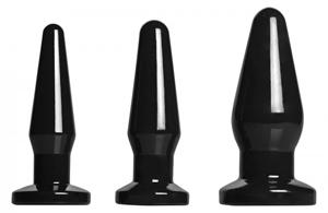 3-Delige Buttplug Set - Zwart