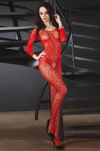 Sierlijke rode catsuit