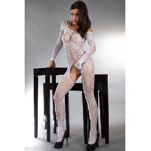 Sierlijke witte catsuit