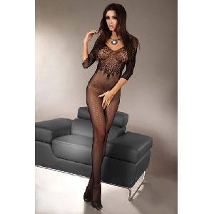 Elegante netstof catsuit