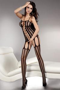 Zwarte body met strepen