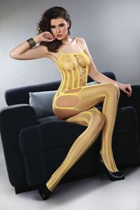 Honingkleurige body met strepen