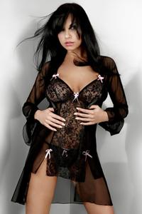 Sexy zwarte kimono