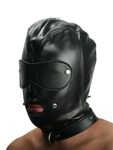 Locking Slave Hood Hoofdmasker