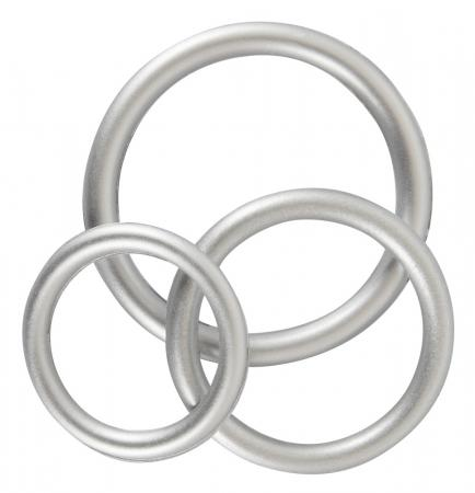 Siliconen Cock Ring Set - Metallic