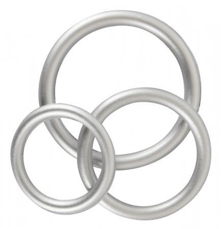 Siliconen Cock Ring Set - Metallic