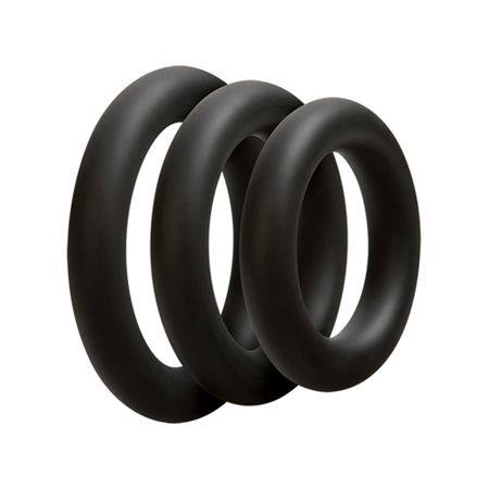 Driedelige cockring set - Dik - Zwart