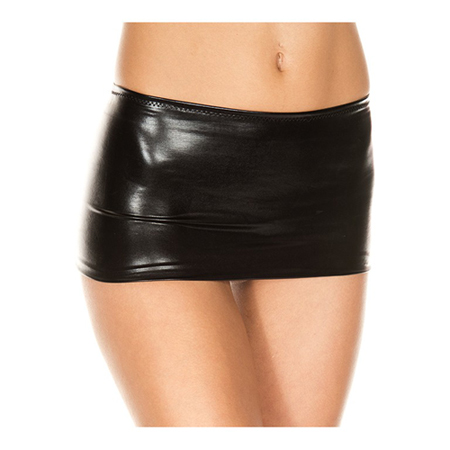 Metallic Mini Rok - Zwart
