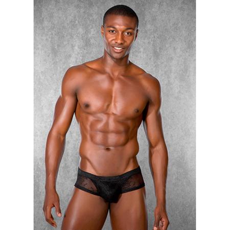 Zwart kanten short voor heren