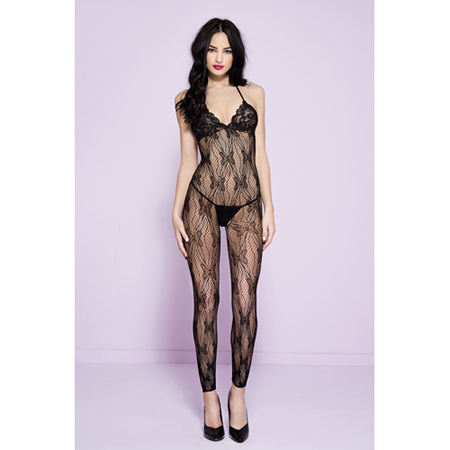 Ouvert Catsuit mit Schmetterlingsdesign