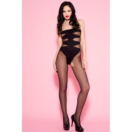 Open Kruis Catsuit Met Body Look