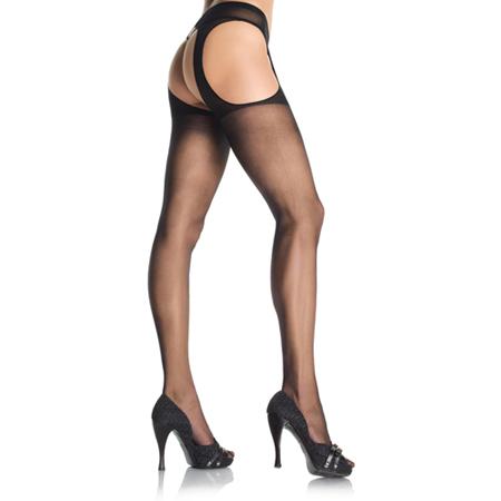 Jarretel Panty - Zwart