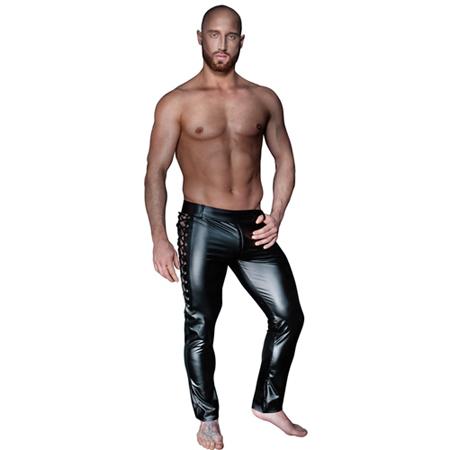 Lange Hose mit seitlicher Schnürung