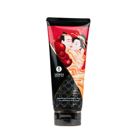 Shunga - Eetbare Massagecrème Strawberry Wine