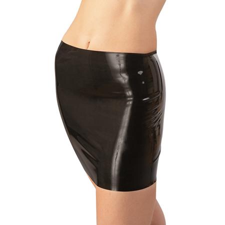 Latex Minirock schwarz