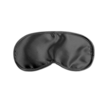 Liebesmaske aus Satin - Schwarz