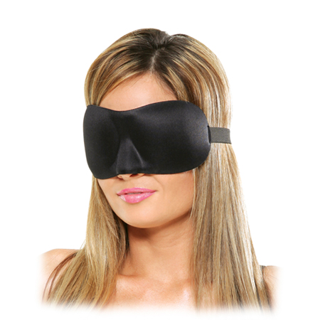 Satijnen Love Mask Deluxe - Zwart