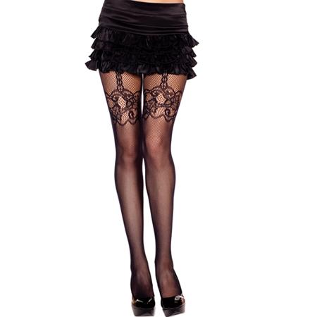 Panty Met Jarretellook - Zwart