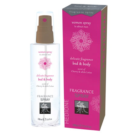 Feromonen Bed & Body Spray Voor Vrouwen - Kers & Witte Lotus