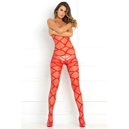 Strapped Up Catsuit - Rood