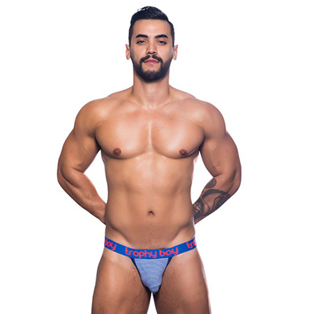 Trophy Boy Jockstrap - Blauw/Wit