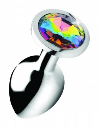 Rainbow Gem Buttplug - Middel