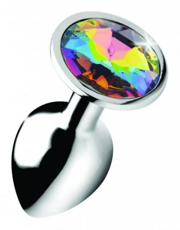 Rainbow Gem Buttplug - Klein