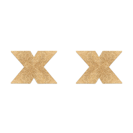 Flash Cross Tepelstickers - Goud