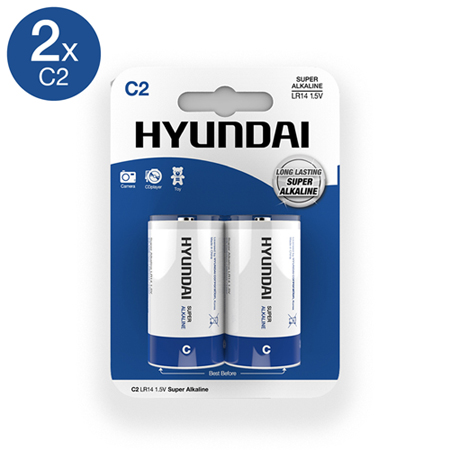 Super Alkaline C Batterien - 2 Stück