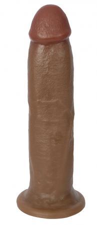 22 cm Realistischer Dildo mit Saugnapf - Braun
